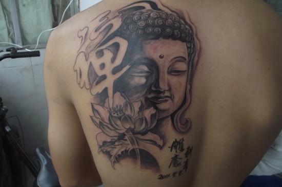 佛字纹身图案设计